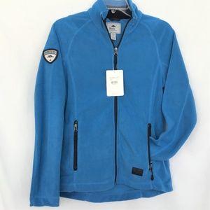 Roots 73 Fleece Jacket Women S Small Blue Full Zip